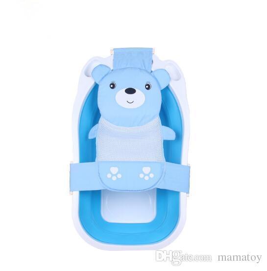Adjustable Baby Safety Security Shower Bath Seat Tub Bathtub Support Net Cradle Bed Bathing Tub Shower Net Mesh Sling