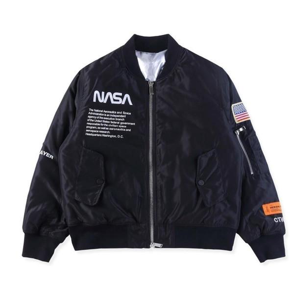 18fw Nasa Heron Preston Fashion Jacket Bomber Astronaut Jacket Mens And Women High Quality Jacket Hfbyjk225