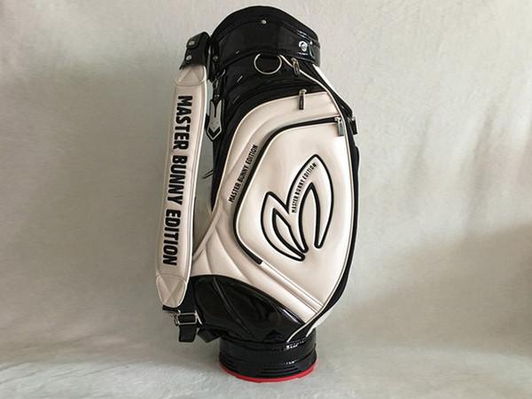 Nova marca Pearly Gates Golf Bag Branco 7 Buracos PU Perolado Portões de Golfe Padrão Clubs Bag EMS Frete Grátis
