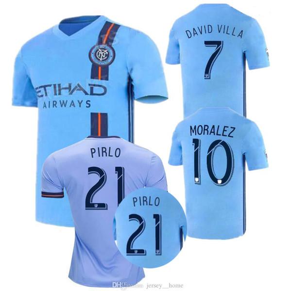 2019 Fan-Version New York City MLS-Fußballtrikot Fußballtrikots 18/19/20 NYC Startseite Pirlo Weltweite Fußballspiele David Villa Maglie