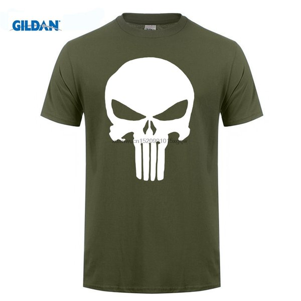 est Hommes T-shirt Imprimé Style Été Unis T-shirt Navy Seals Skull Punisher