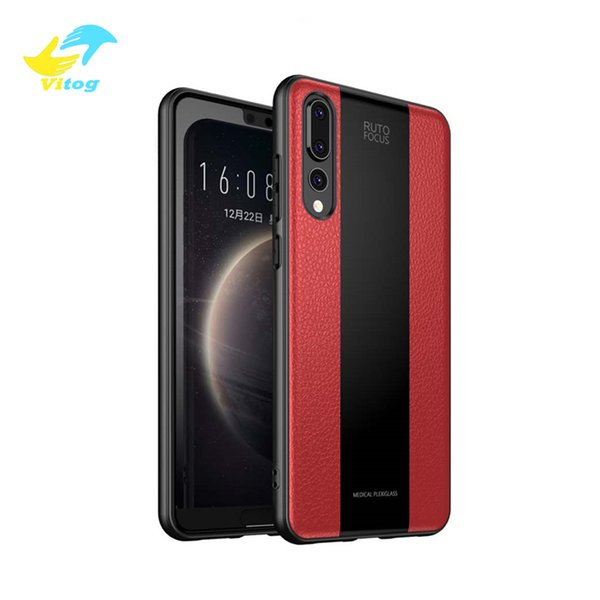Leather Grain phone Case For Huawei Mate 20 Pro iPhone X 7 Plus XR XS MAX Case Cover