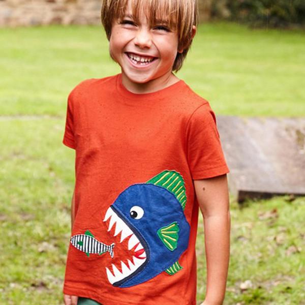 Kinder Cartoon Druck Top Kurzarm Rundhals Baumwolle Top Sommer Junge T-shirt Mädchen Designer Pullover 48