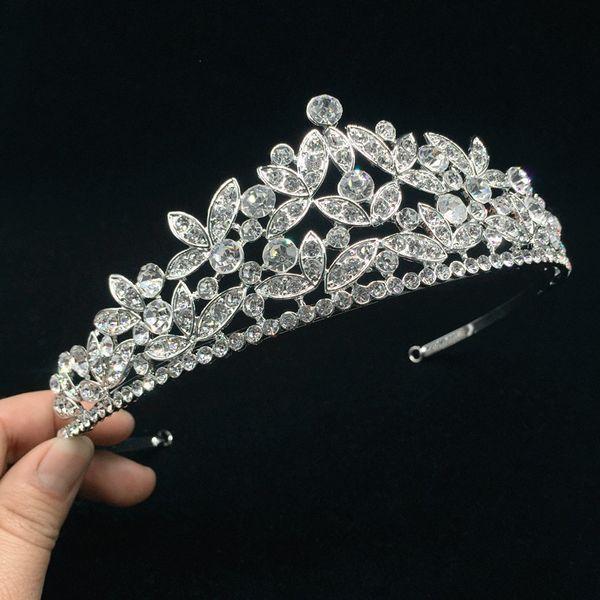 Strass moda Donna Tiara da sposa Corone Queen Princess Pageant Crown Nuove damigelle Accessori per capelli da sposa MY756