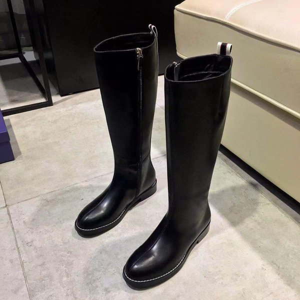 2019 Yeni Varış Tasarımcı Kadın Lüks Çizmeler Marka Moda Rahat ayakkabılar Deri En Kaliteli Bahar Sonbahar Mektup Logosu En Kaliteli 9948CE