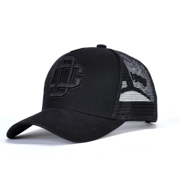 Erkek siyah şapka örgü yaz şapka unisex beyzbol şapkası lüks logo nakış snapback şapka açık güneş gölge golf kap
