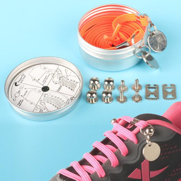 18 Renk 1 M Hiçbir Kravat Hızlı Ayakkabı Bağı Yeni Moda Ayakkabı Bağcığı Çocuk Kadın Adam Sneakers Ayakkabı Toka ile Ücretsiz nakliye