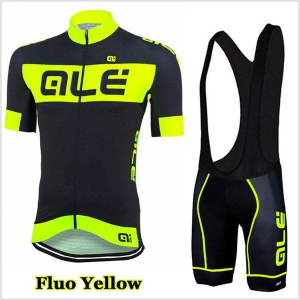 top popular 2019 Ale team Cycling Jersey Set Men Bike Clothing Short Sleeve shirt Bib Shorts Suit High Quality summer bicycle sports uniform 2019