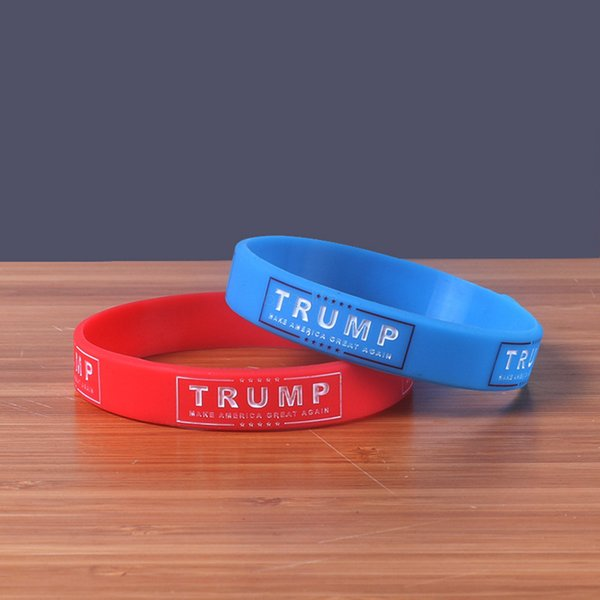 Donald Trump Silicone Wristband Rubber Power Bracelet Make America Great Again Supporters Wristbands Bracelets bangle Favor 300PCS AAA2270