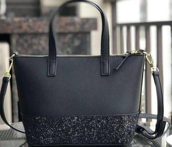 Yeni marka tasarımcısı glitter parlayan crossbody çanta çanta Omuz çantası 3 renkler küçük boy pu patchwork çanta totes156419468315115642077629