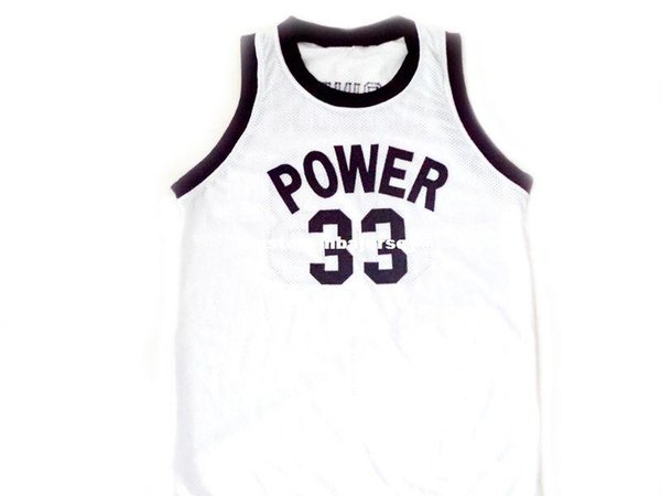 Alcindor #33 Power High School Abdul Jabbar Basketball Jersey White Stitched Custom any number name MEN WOMEN YOUTH BASKETBALL JERSEYS
