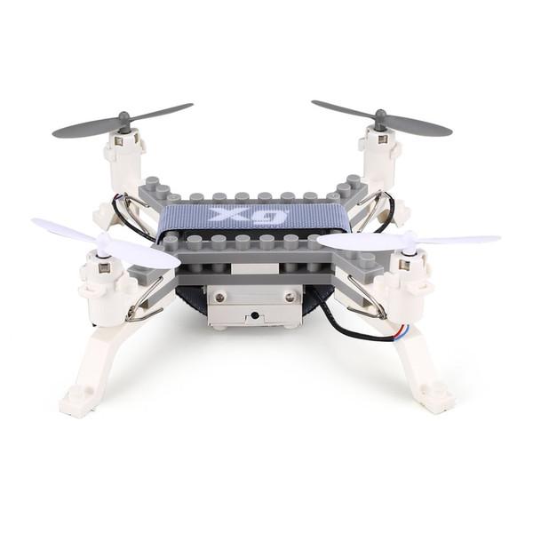 XG171 Mini Smart 2.4G RC Building Block 3D Bricks FPV Quadcopter Drone Aircraft With Camera Altitude Hold Headless Mode 3D Flips