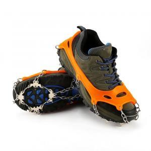 Non-Slip Crampons Hiking Climbing Walking Shoes Chain Cleat Outdoor Ice Claw Anti-skid Shoes Set 10 Teeth LLA103