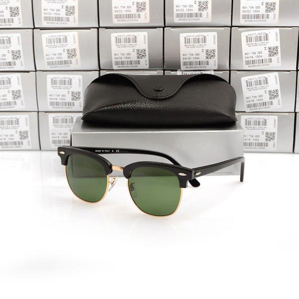 Black Frame Lens Verde 51 milímetros