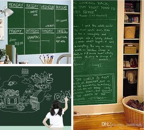 Chalk Board Blackboard Stickers Removable PVC Draw Decor Mural Decals Art Chalkboard Wall Sticker For Kids Rooms 45*200cm c082