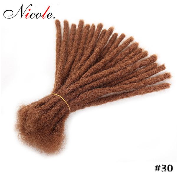 15-30cm Curto Dreadlock Homens Handmade Synthetic Crochet trança do cabelo Hip Hop Cabelo Pure Color crochet Para Negros frete grátis