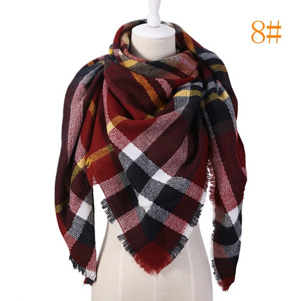 31Colors Women blanket Scarf Cozy Oversized Tartan Tassel Scarf New Wrap Grid Shawl Check Pashmina Cashmere B9102 Lattice Neck plaid Stole