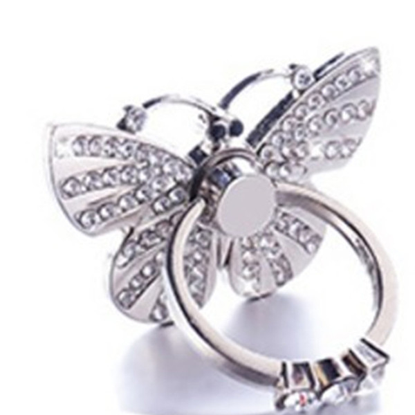 Ring Phone Holder For iPhone Samsung Elegant Butterfly Bow Bling Diamond Unique Cell Phone Holder Fashion with package Hot Sale