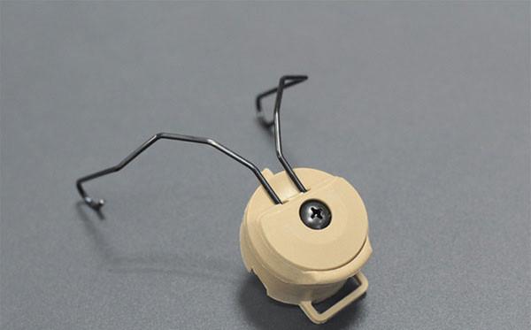 Peltor SORDIN Headset Ops-Core Capacete ARC Rail Adaptador de montagem 2pcs por conjunto PRETO DE FG Capacete acessórios
