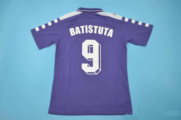 Trasporto libero 1998-1999 vecchia fiorentina rui costa batistuta retro calcio jersey vecchie magliette calcio calssical unifroms