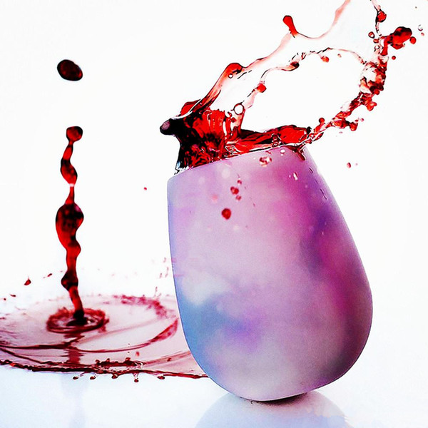 Art und Weisesilikonweinschale unzerbrechliche Partei bewegliche Silikagel bunte klare Weinglas-Trinkschale x100