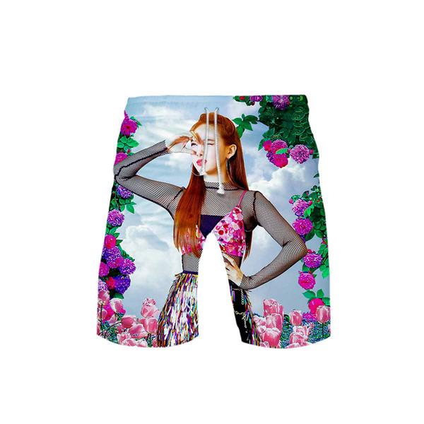 TWICE Idol Korea 3D print Beach Shorts Fashion Kpop shorts Basic Street Summer Casual Moletom man pant Hipster