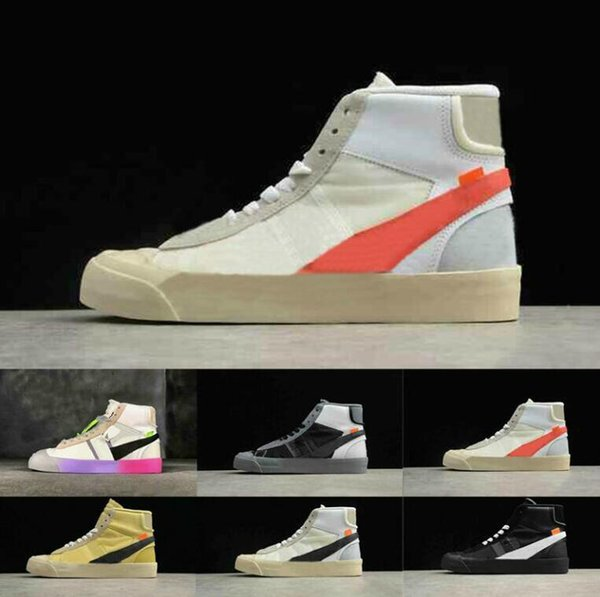 gute Qualität absolut stilvoll begrenzter Preis 2019 Hot OW X Blazers Mid Rainbow All Hallows Eve Running Shoes Blazer Mid  Studio Grim Reepers Mens Womens Sports Trainer Designer Sneakers 36 44 From  ...
