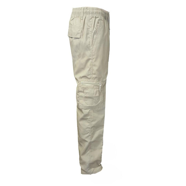 2019 New Brand Cotton Black Grey Beige Heavy Duty Combat Cargo Work Trousers With Knee Pad Pockets