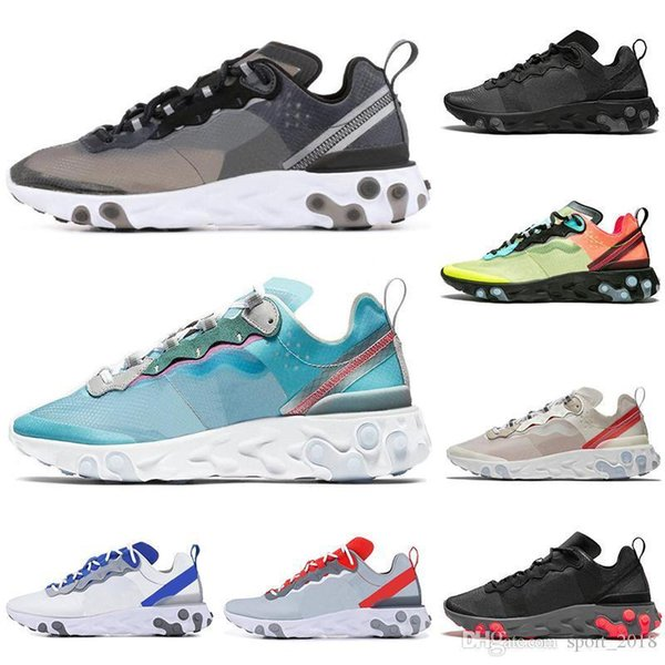 Newest Designer React Element 55 87 men women running shoes triple black Royal Tint VOLT RACER PINK Anthracite mens trainers sports sneakers