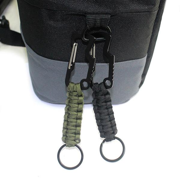 Survival Paracord İpi Anahtarlık ile Karabina Şişe Açacağı için Tuşları, El Feneri, Bıçak, Açık Kamp Kitleri için Faydalı Ücretsiz DHL M142F