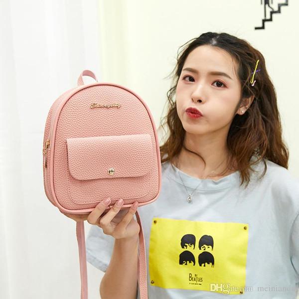 Moda de luxo Mini Mochila Mulheres PU Bolsa De Ombro De Couro Para Meninas Adolescentes Crianças Multi-Função Pequena Bagpack Feminina Senhoras Mochila Escolar