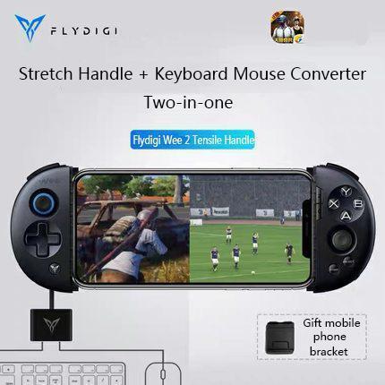 Flydigi وي 2T Pubg موبايل لعبة وحدة تحكم موبايل تلسكوبي بلوتوث غمبد لوحة المفاتيح / الماوس تحويل الروبوت / IOS المقود