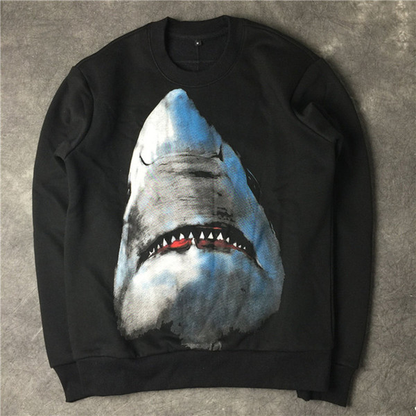top popular Luxury Designer Hoodie Sweatshirts Fashion Shark Printing High Quality Men Women Hoodies Unisex Designer Hoodies Long Sleeve 2019