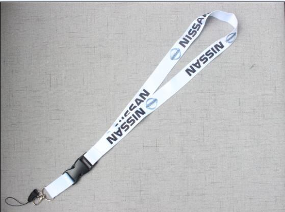 CAR Style For NISSA Car Logo Cellphone Lanyard Racing Car Keychain ID Holder Mobile Neck Strap with Quick Release