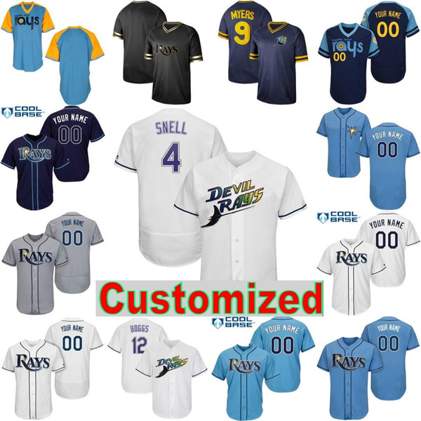 5f04dcbb 2019 2019 Tampa Bay Baseball Rays Jersey Blake Snell Tommy Pham Willy  Adames Austin Meadows Ji Man Choi Yandy Diaz Brandon Lowe Kevin Kiermaier  From ...