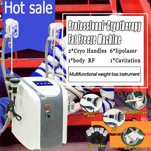 best selling 2019 New model Cryolipolysis Weight Loss Machine Cryotherapy Slimming Cavitation+RF+40k+Lipo Laser Machine Fat Freezing Machine CE DHL