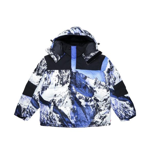 FREE Mountain Baltoro Winter Jacket Blue White Down Jacket Men Women Winter Feather Overcoat Jacket Warm Coat