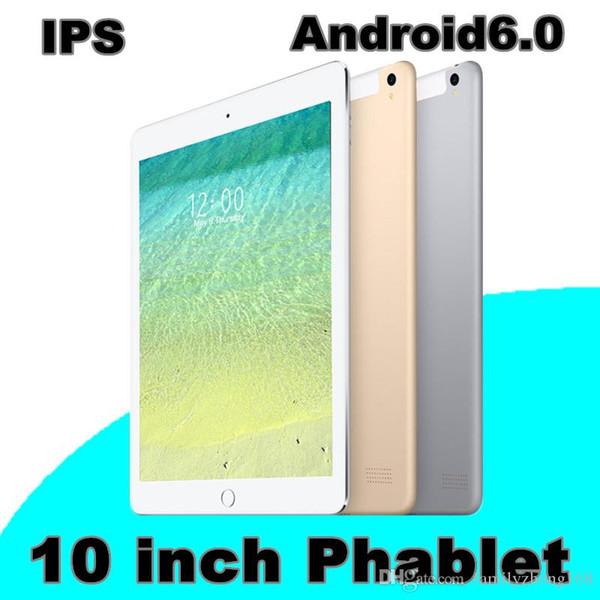 10,1-Zoll-Tablet-PC IPS Android 6.0 3G MTK6582 Quad-Core 1 MB + 16 GB 128 G-Speicher kann eingefügt werden.