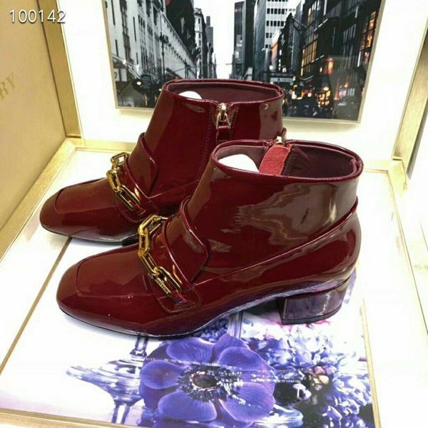 18ssLeather BOOT lace-up boots Brand Sneakers High-Top 40cm Designer Shoes Trainers Casual Shoes Sandals Slippers Slide For woman
