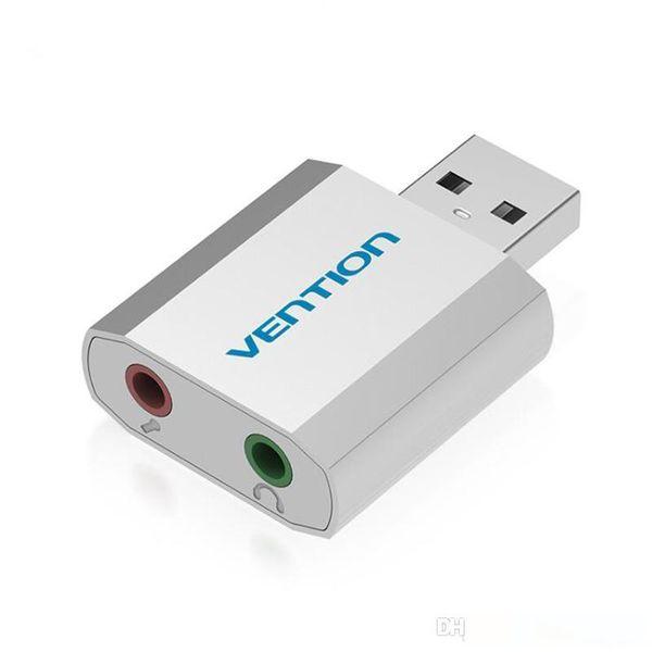 Mini USB Sound Card Áudio Cartão USB para 3.5mm Femal externa placa de som com microfone headset Adapter Para Speaker Portátil PC PS4