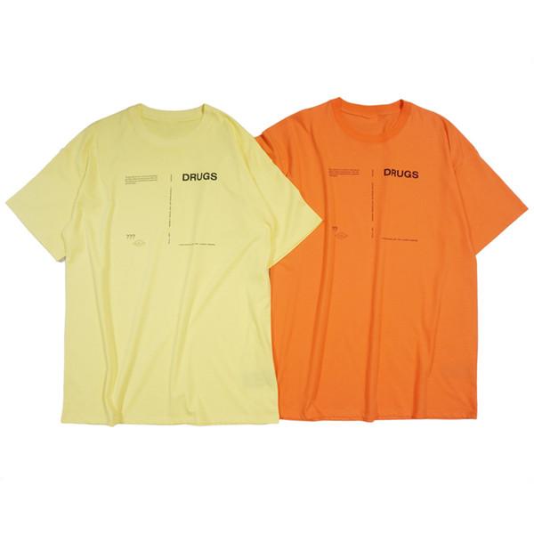 18ss Раф Саймонс футболка подиум показать ткань Мужчины Женщины мода негабаритных с коротким рукавом отложным воротником рубашки один размер Бесплатная доставка 288
