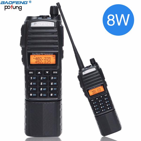 2pcs Baofeng UV-82 plus 8W haute puissance DC Connecteur 3800mAh talkie-walkie bi-bande 10km 136-174400-520mhz longue portée Ham Radio