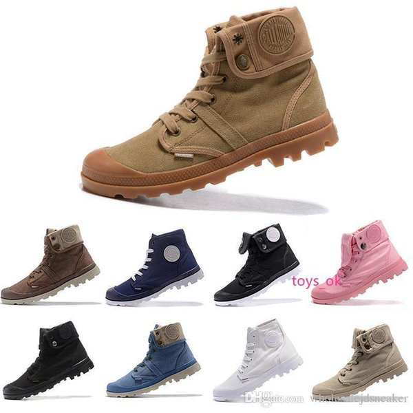 PALLADIUM Women Baggy 2017 Soldiers Boots Canvas Casual