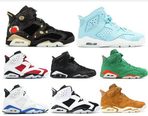 Cheap 6 Basketball Shoes Mens shoe White 6s shoe Carmine Cat Gatorade Harvest Oreo Suede Tennis Trainers Sport Shoe Sneakers