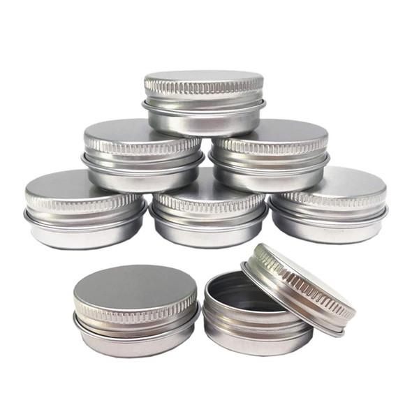 5ml 5g en aluminium bidons pots d'échantillons cosmétiques boîtes métalliques vider le conteneur en vrac pot rond couvercle à visser couvercle petite once pour baume à lèvres bougie