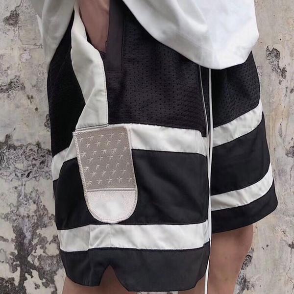 19ss Dernier été Justi Vintage Noir Fear Of God brouillard Ceintures Shorts Short Hip Hop Sweat Streetwear Mode Coton