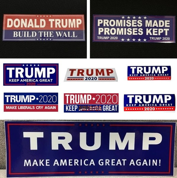 Home Décor Donald Trump 2020 Car Stickers Bumper Sticker Keep Make America Great Decal for Car Styling Vehicle Paster Trump Stickers 4728
