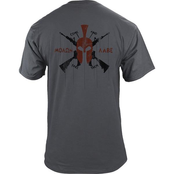 Clásico Molon Labe Modern Spartan Helmet 2A Derechos AR15 Gun Graphic T-ShirtFunny envío gratis Unisex Casual camiseta