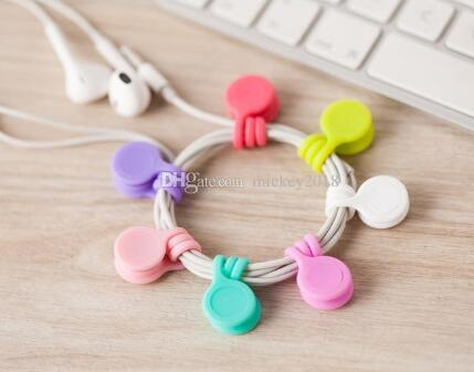 Multifunction Management Silicone Earphone Headphone Cord Winder USB Cable Holder Strap Magnetic Organizer Gather Clips Bookmark keychain