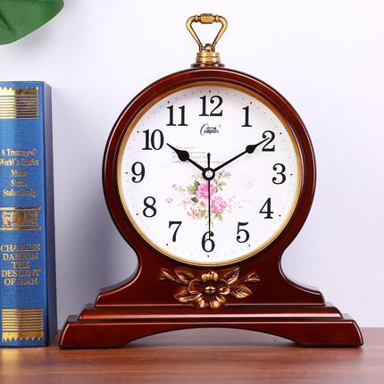 Living room large wall clock, European retro table clock, modern creative mute clock